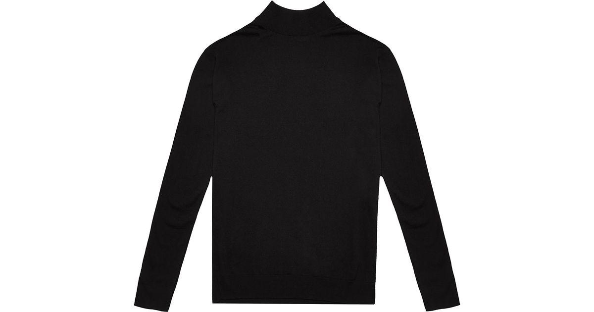 07d970f34499dd Saint Laurent Mens Merino Wool Roll Neck Sweater in Black for Men - Lyst