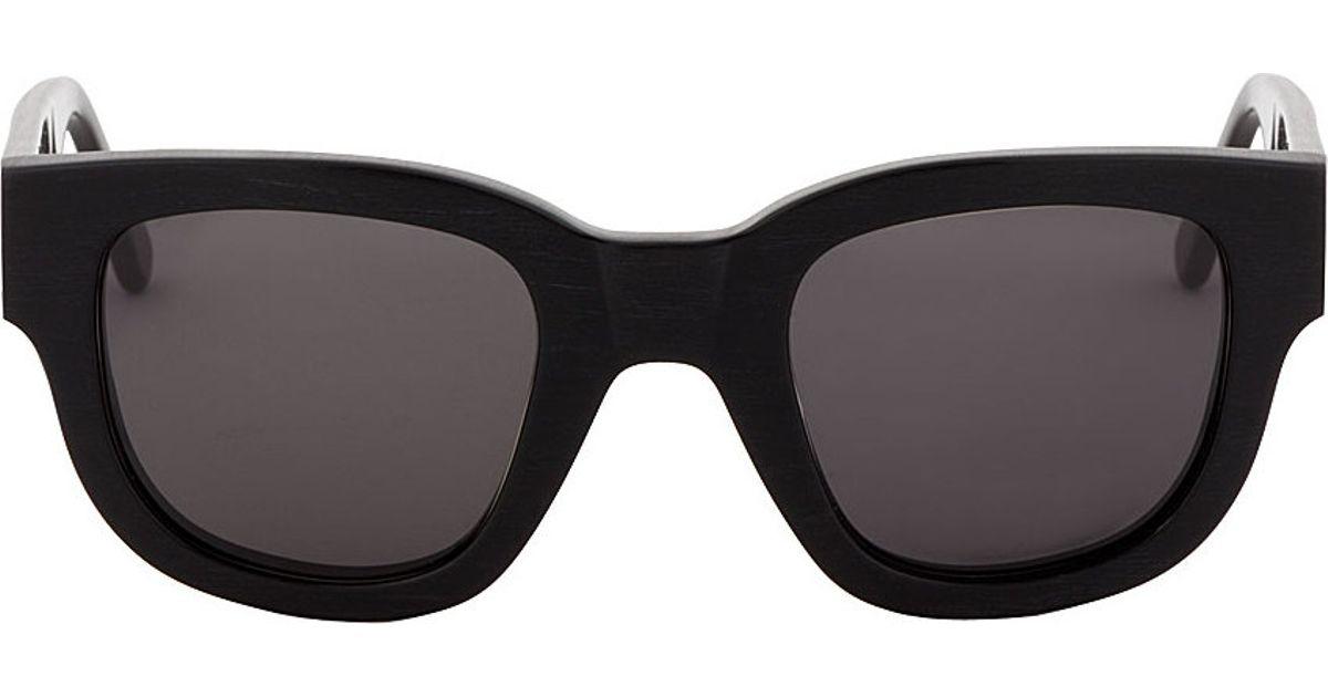 Lyst Acne Studios Black Matte Frame Sunglasses In Black