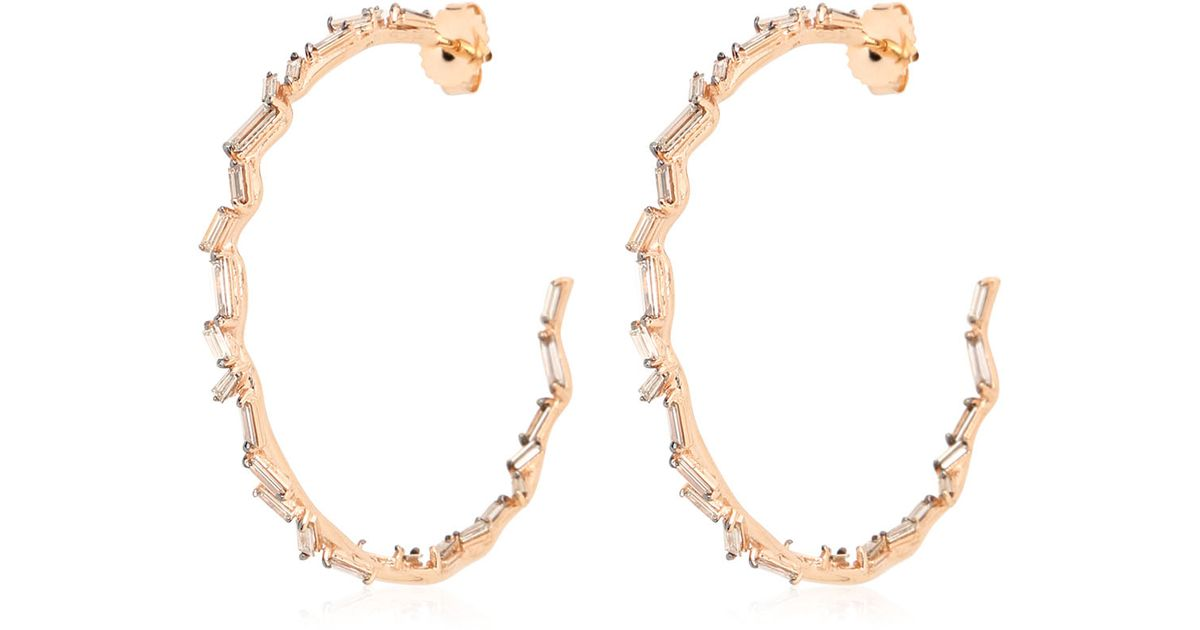 Suzanne Kalan diamond hoop earrings - Pink & Purple 8Hbf8Q