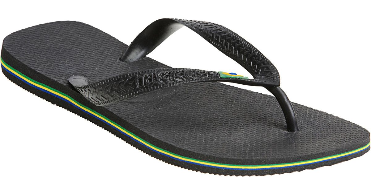 3d1256d7c30e Havaianas Brazil Flip-flops in Black for Men - Lyst
