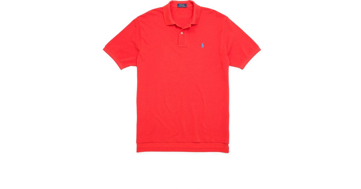cdf112d59 Lyst - Pink Pony Classic-fit Mesh Polo Shirt in Red for Men