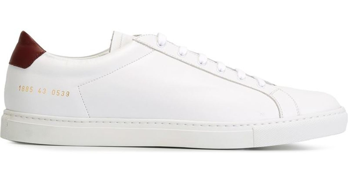 common projects 39 achilles retro low 39 sneakers in white for men lyst. Black Bedroom Furniture Sets. Home Design Ideas