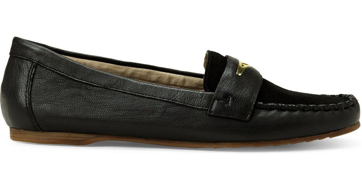 61ff5b1ac Franco Sarto Black Papillon Loafers in Black - Lyst