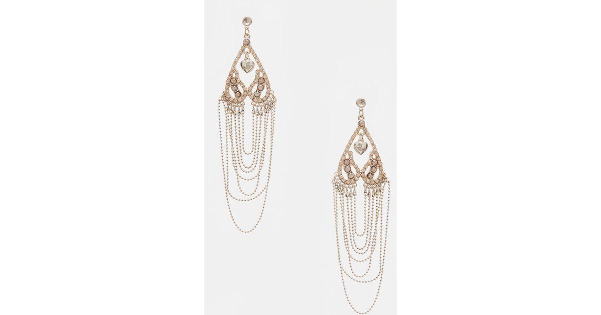 Lipsy Drape Earrings in Metallic   Lyst