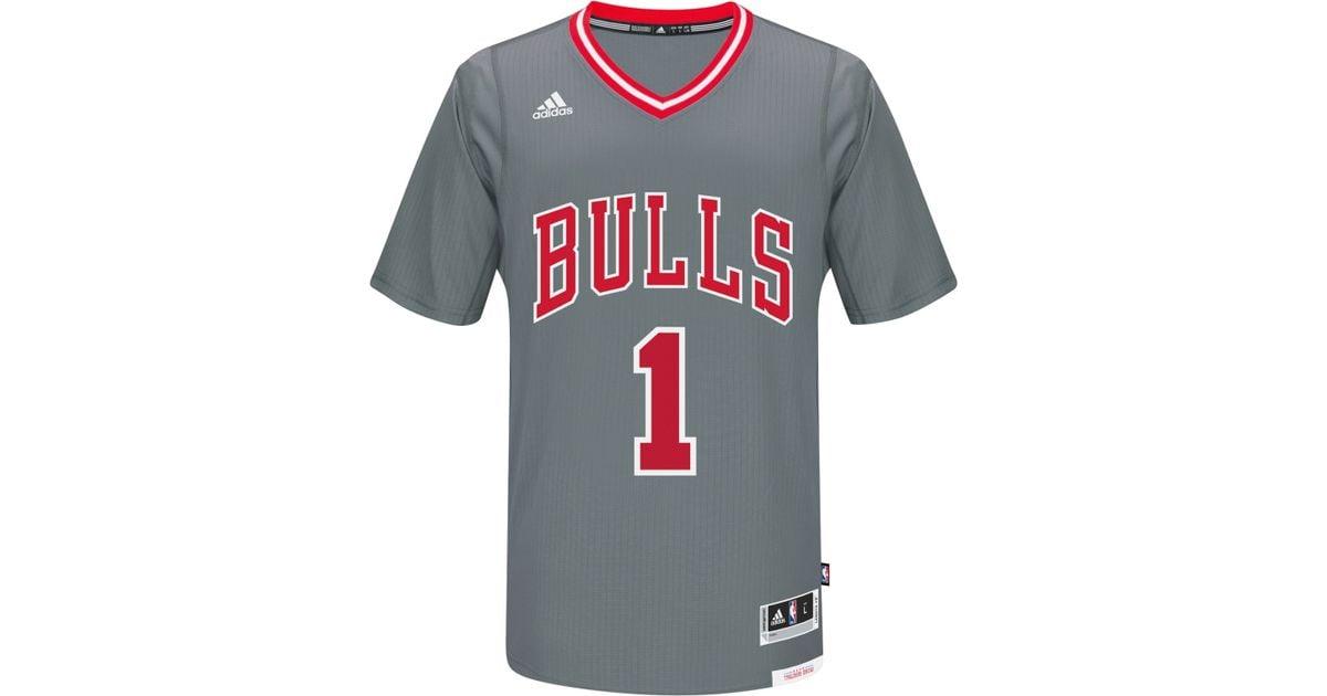 ef808b3a0 Lyst - adidas Originals Men s Derrick Rose Chicago Bulls New Swingman Jersey  in Gray for Men
