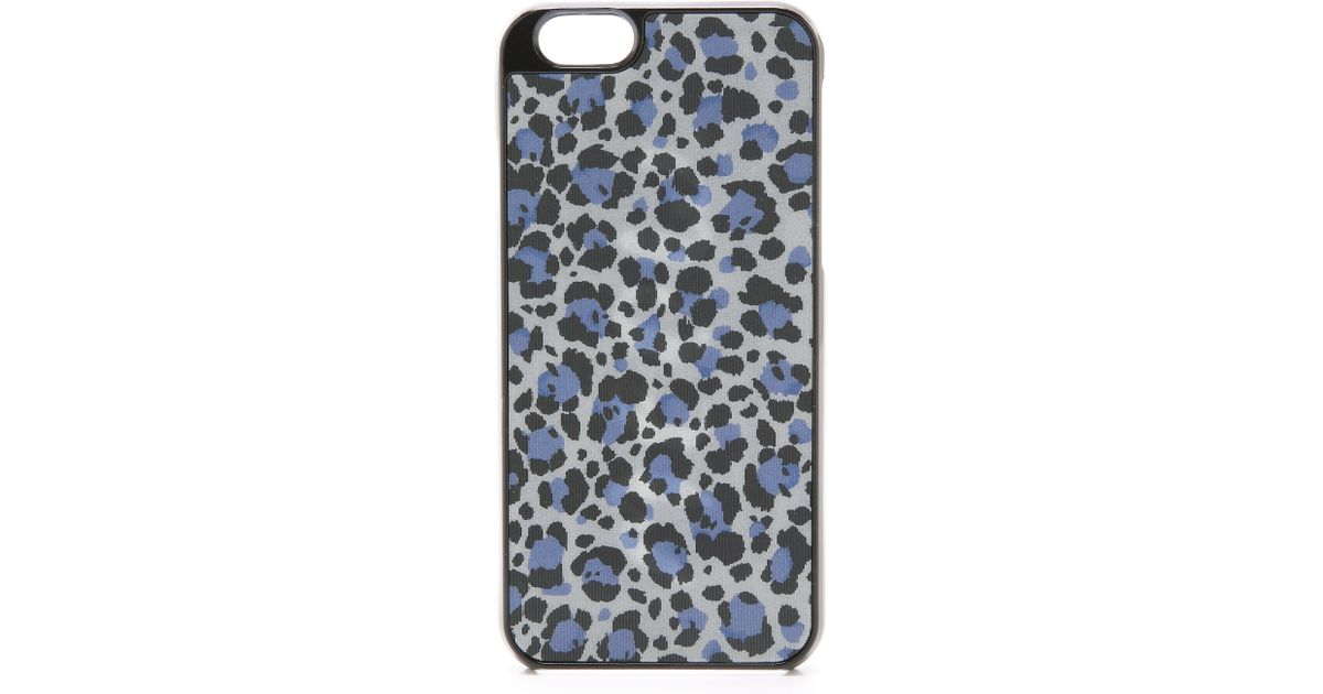 Kate spade new york Leopard Clear Phone Case For Iphone 6 in Blue ...
