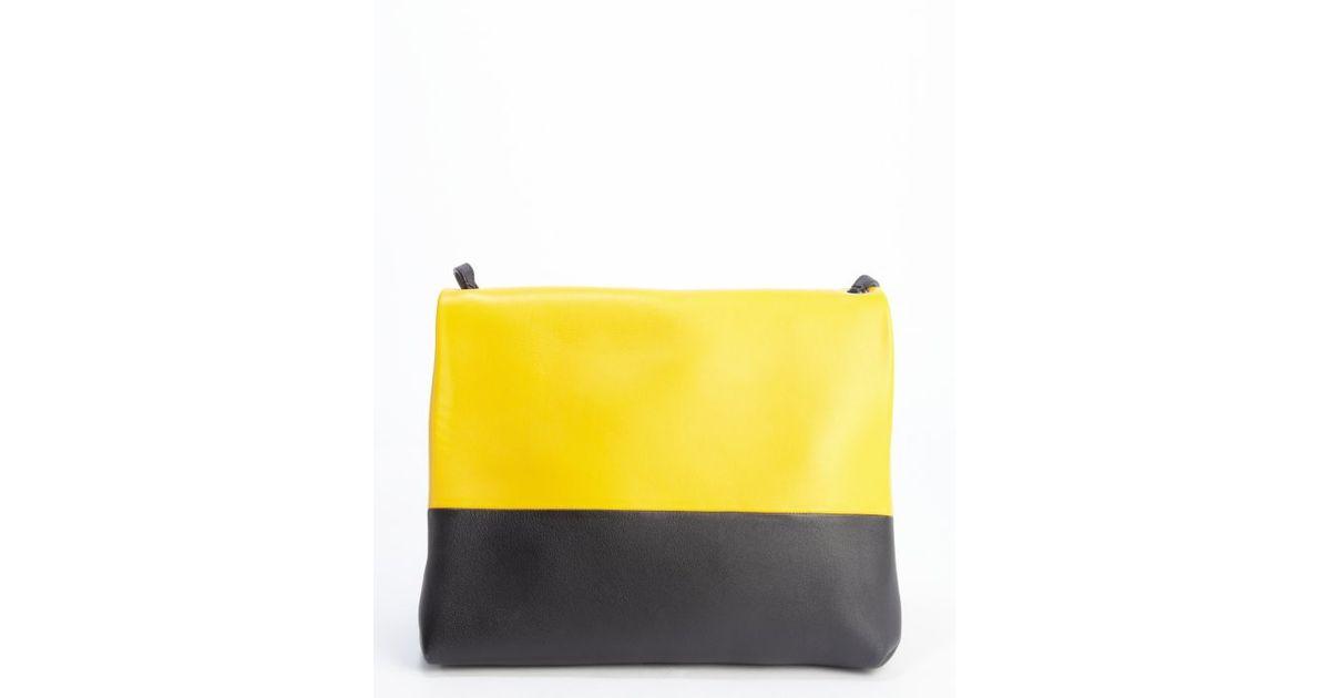 celine ecru leather handbag belt