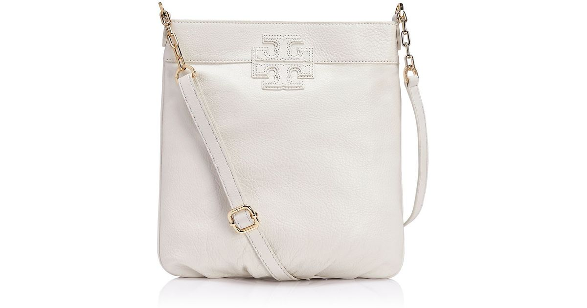 Tory burch Stacked T Book Bag in White | Lyst