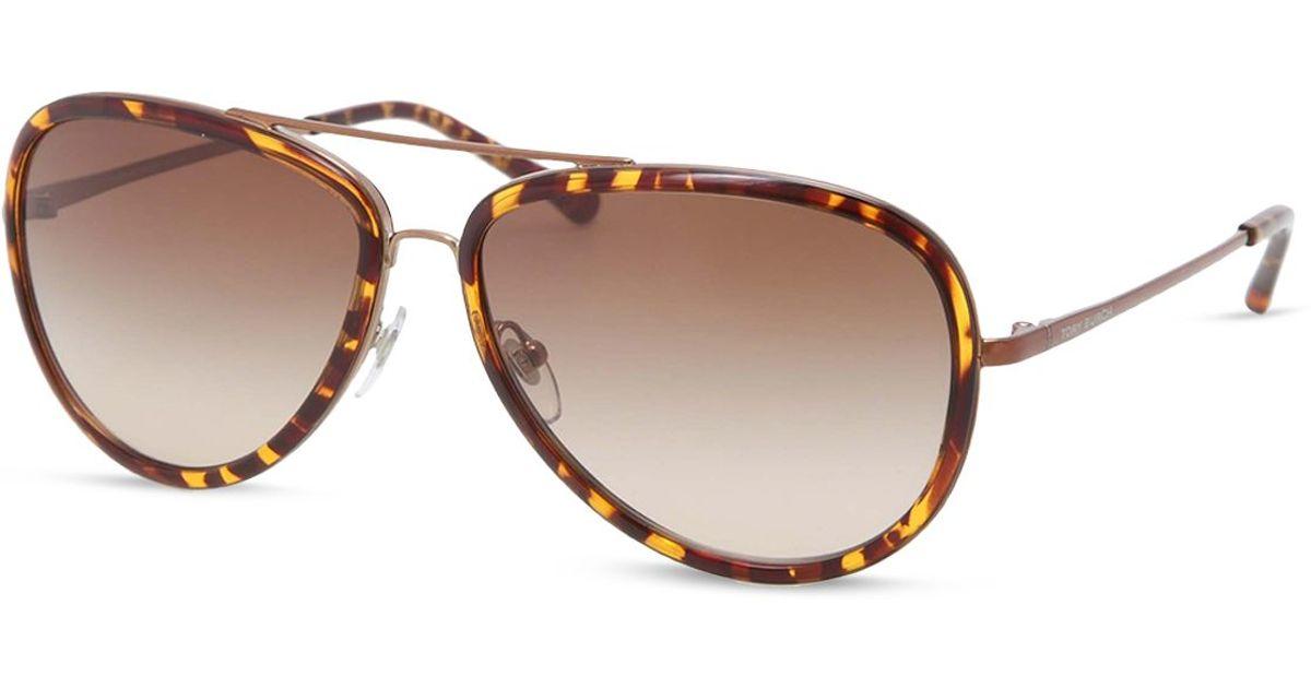 444fd8f9ac Tory Burch Aviator Polarized Sunglasses