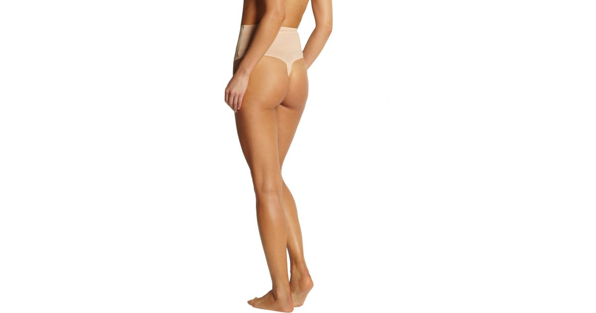 f65024708c0d8 Lyst - Yummie By Heather Thomson Hourglass Jeannie Bonded Stretch Shaping  Thong in Natural