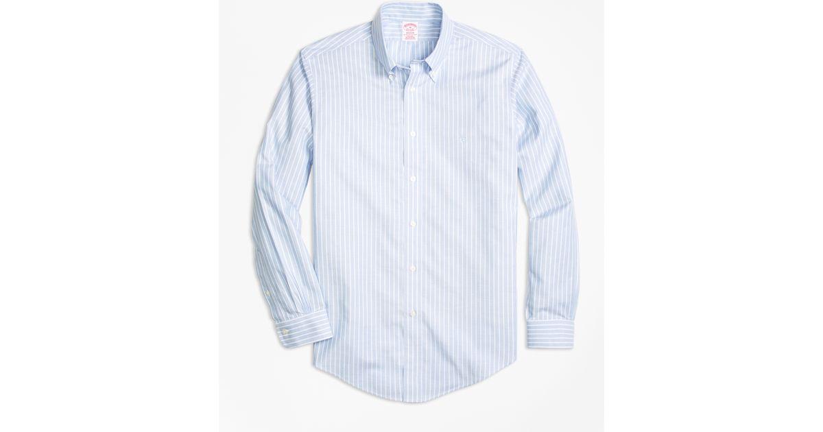 Brooks brothers non iron brookscool madison fit stripe for Brooks brothers non iron shirts review