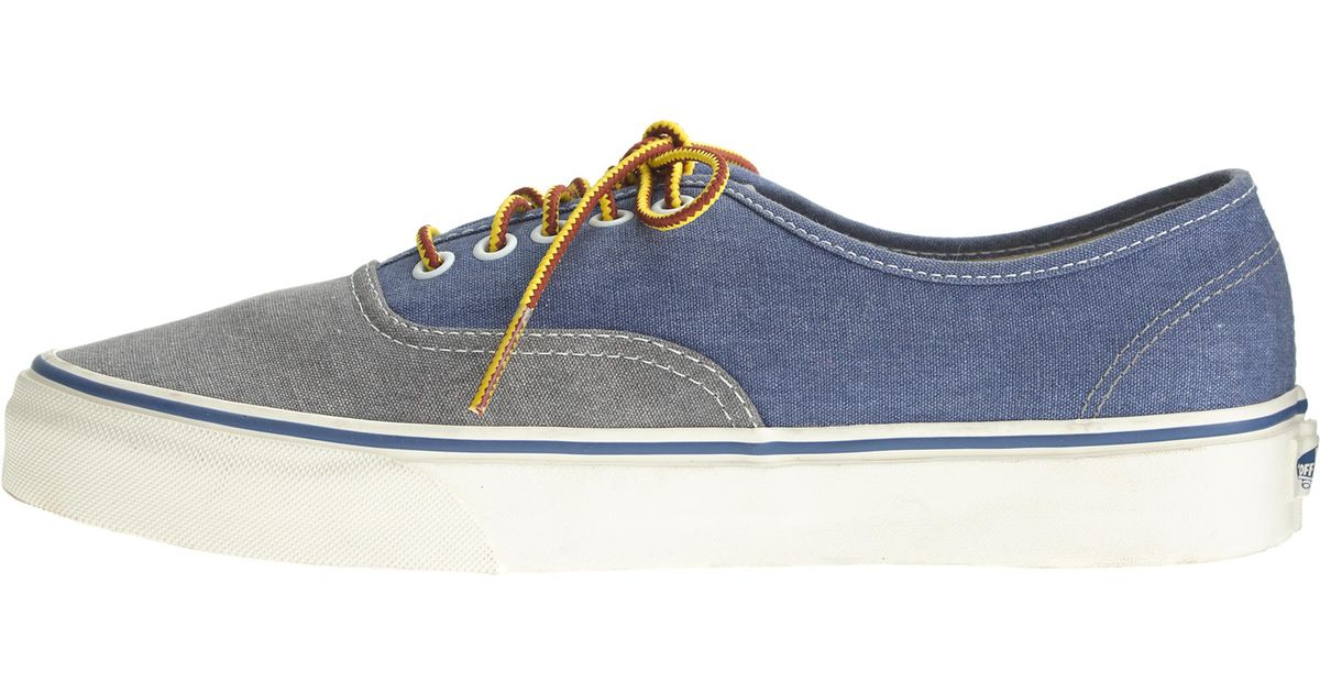 264c0649a8af9e J.Crew Men s Vans Washed Canvas Authentic Sneakers In Two-tone in Blue for  Men - Lyst