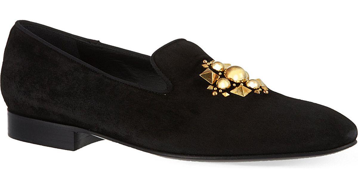 caf5f431553 Louis Leeman Stud Design Slippers - For Men in Black for Men - Lyst