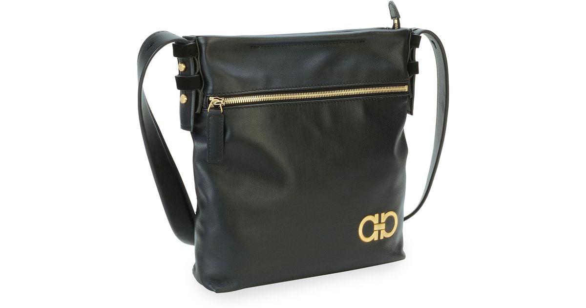 ... Lyst - Ferragamo MenS Nevada Leather Crossbody Bag in Black hot sales  95b89 90ad6 ... 18d618277e