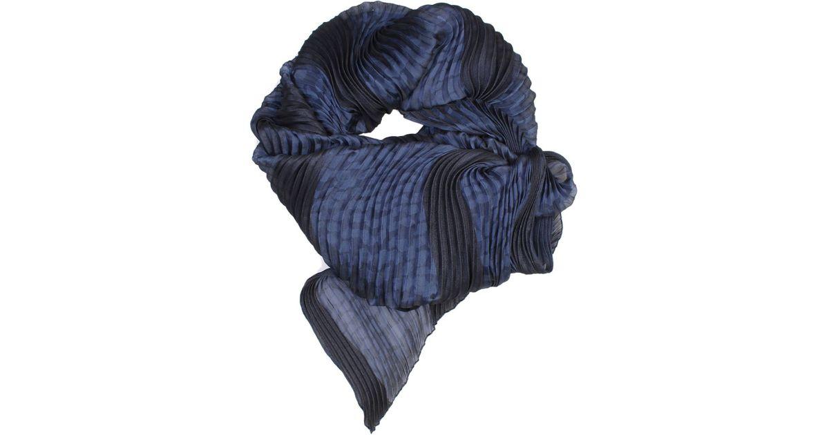 armani giorgio armani s scarf in blue lyst
