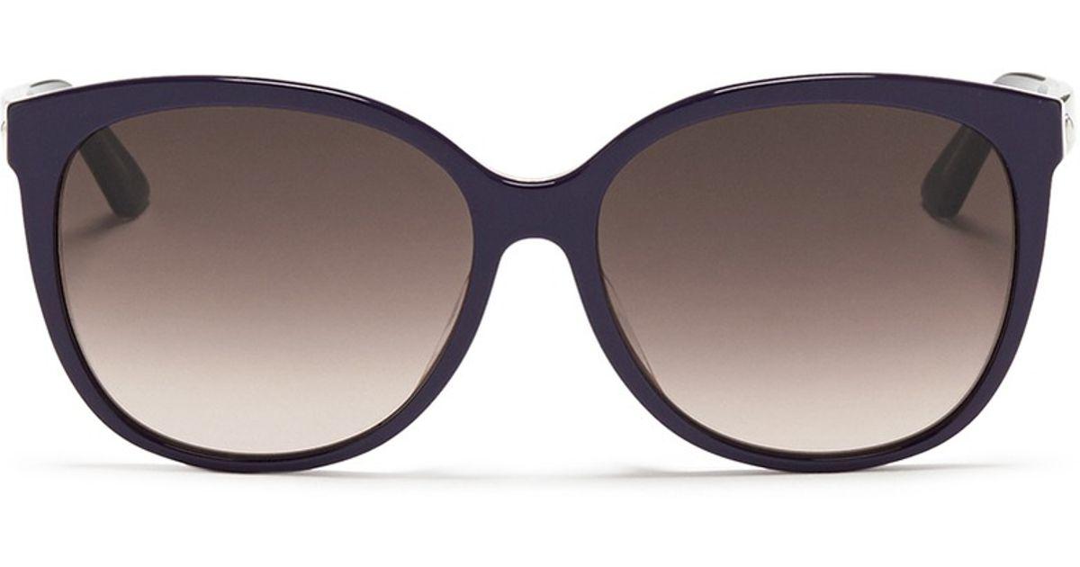 9b45eb8a057 Dior  montaigne  Colourblock Acetate Oversize Butterfly Sunglasses in Purple  - Lyst