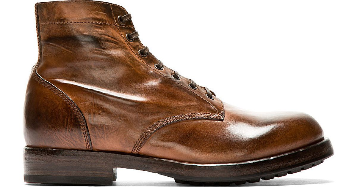 Lyst - Officine Creative Brown Burnished Leather Canyon Ankle Boots in  Brown for Men