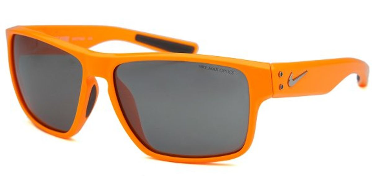 Orange Nike Sunglasses  nike men s mavrk square neon orange sunglasses in orange for men