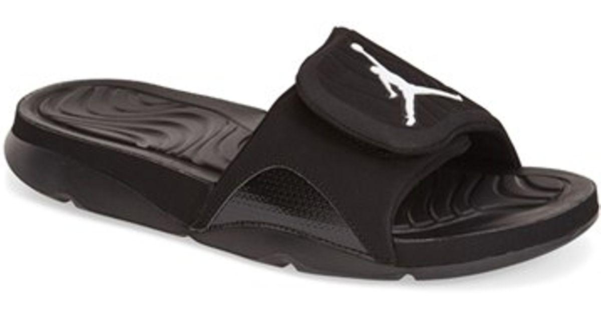 a584709db2f362 Lyst - Nike  jordan Hydro 4  Slide Sandal in Black for Men