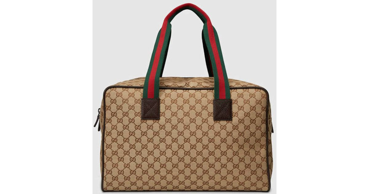 Lyst - Gucci Original Gg Canvas Carry-on Duffle in Brown for Men 52113735614e5