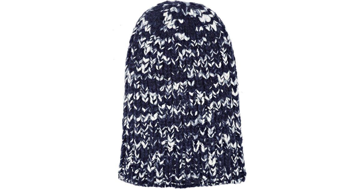 c978584975d Lyst - The Elder Statesman Men s Cashmere Straight Ski Cap in Blue for Men