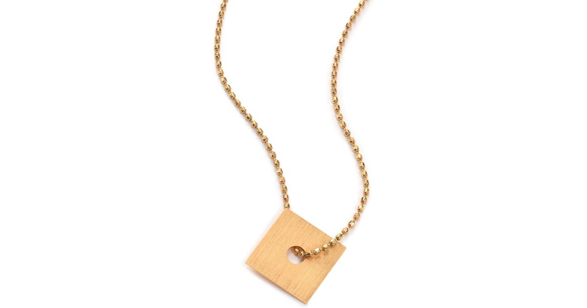 square gold alef layering in zoom jewelry bet necklace loading by paula