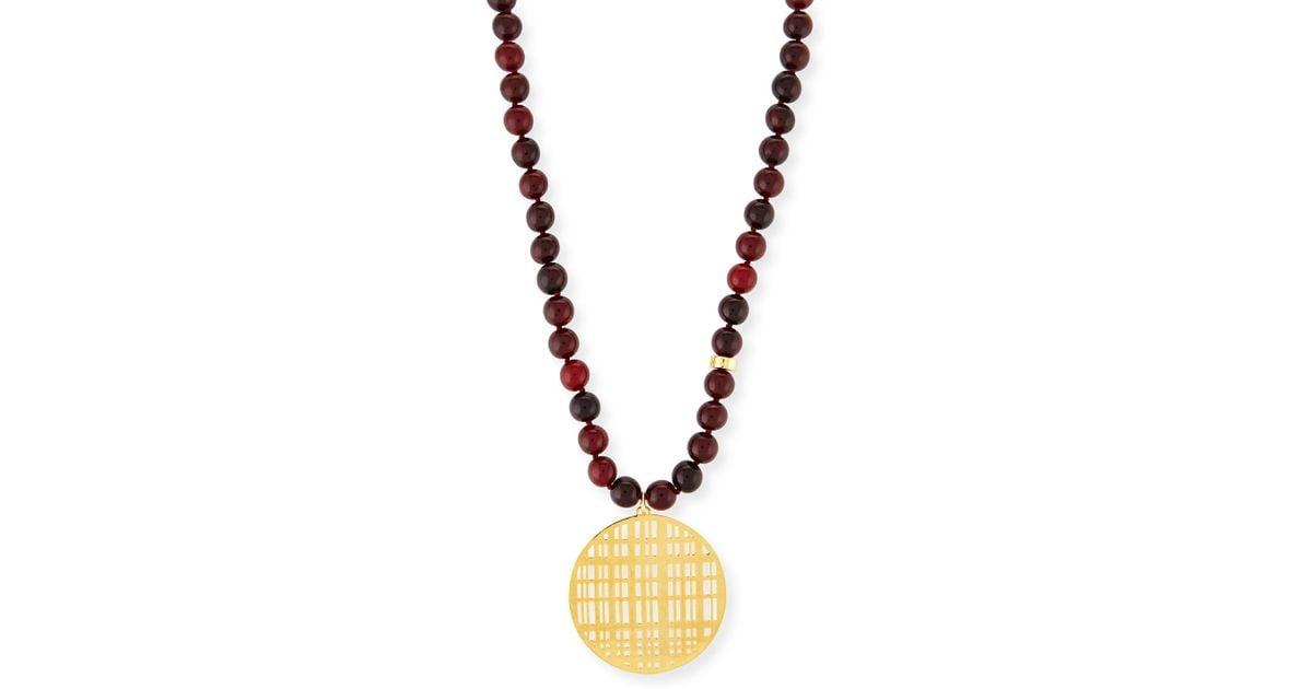 Nest Beaded Quartz Tassel Necklace HMHdS8GM