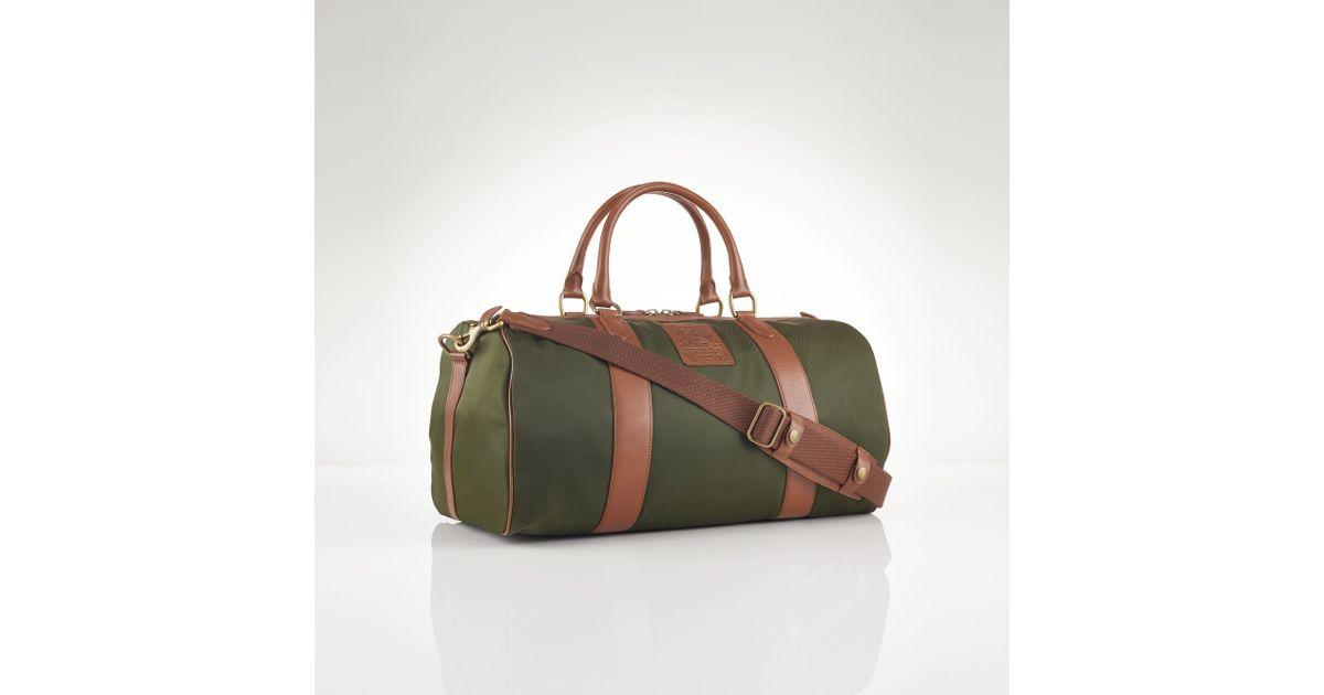 a9f895ddd74 Polo Ralph Lauren Nylon Gym Bag in Green for Men - Lyst