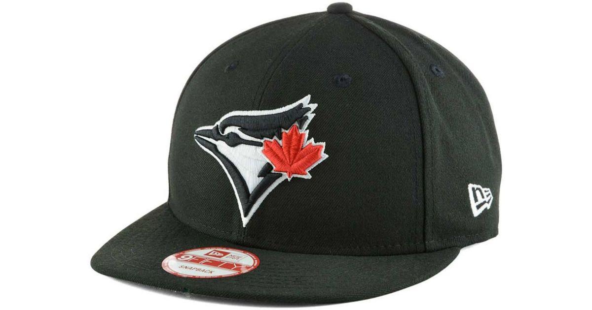 6e5dd638763 Lyst - KTZ Toronto Blue Jays Black White 9fifty Snapback Cap in Black for  Men