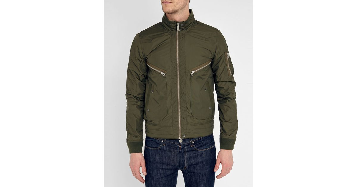 Schott nyc Khaki Target Nylon Jacket in Green for Men ...