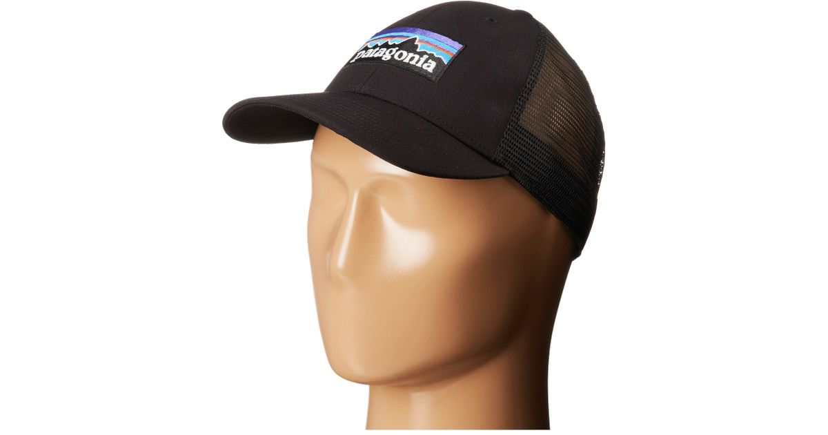 c4c56e0579cd9 Patagonia P6 Lopro Trucker Hat in Black - Lyst
