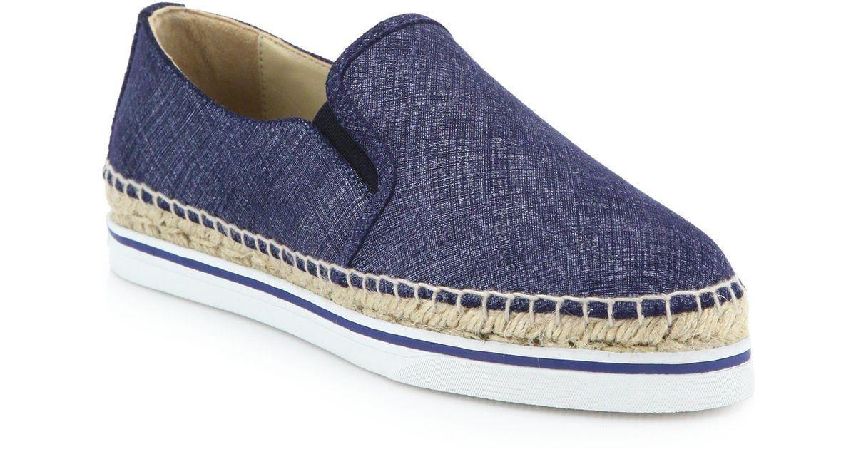Jimmy choo Espadrilles Slip-On Sneakers Dawn denim leather L6TfkA