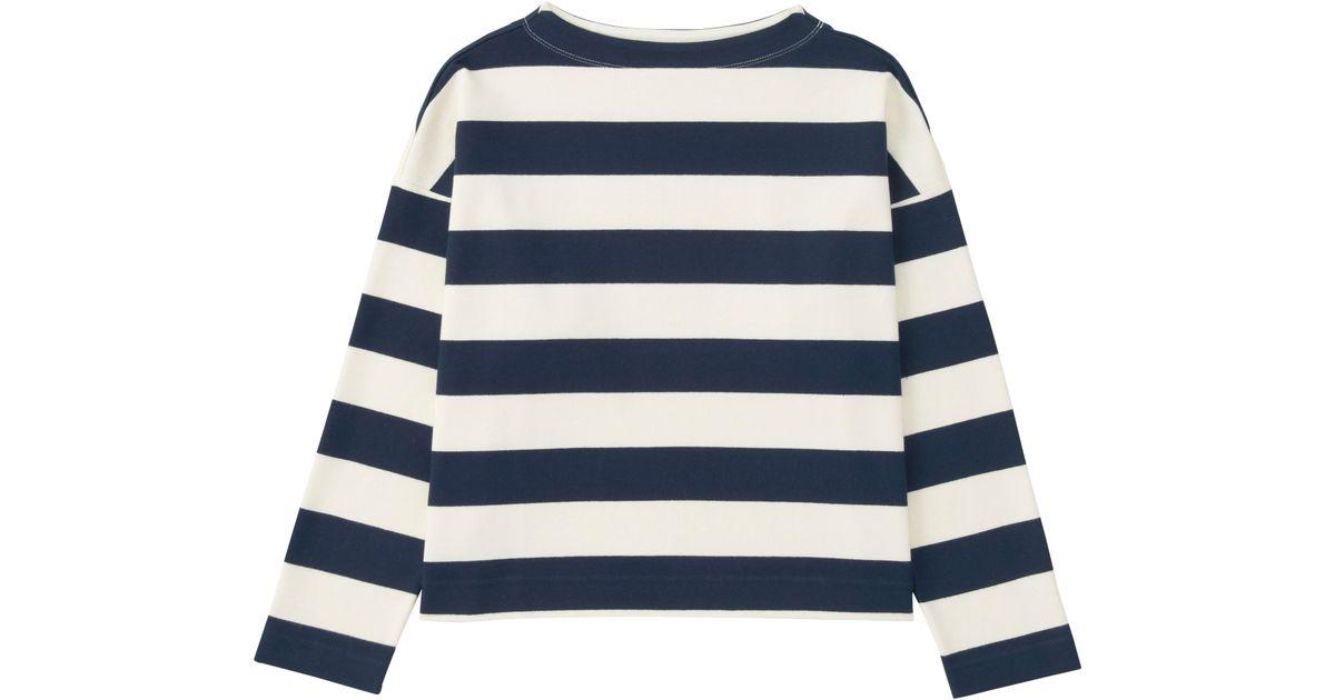 Uniqlo Women 39 S Striped Long Sleeve Mock Neck T Shirt In