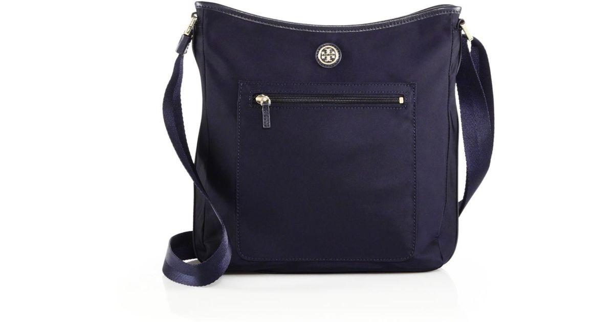 f8168e3de59 Lyst - Tory Burch Nylon Swing Crossbody Bag in Blue