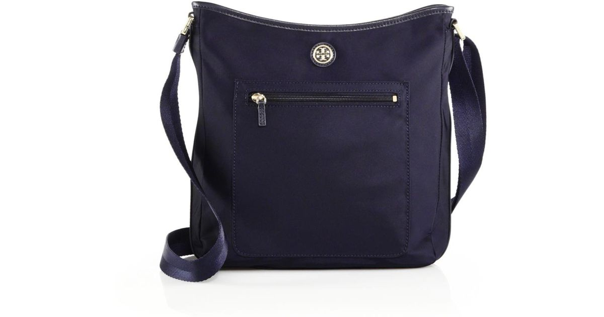 42d60d8b6d4 Lyst - Tory Burch Nylon Swing Crossbody Bag in Blue