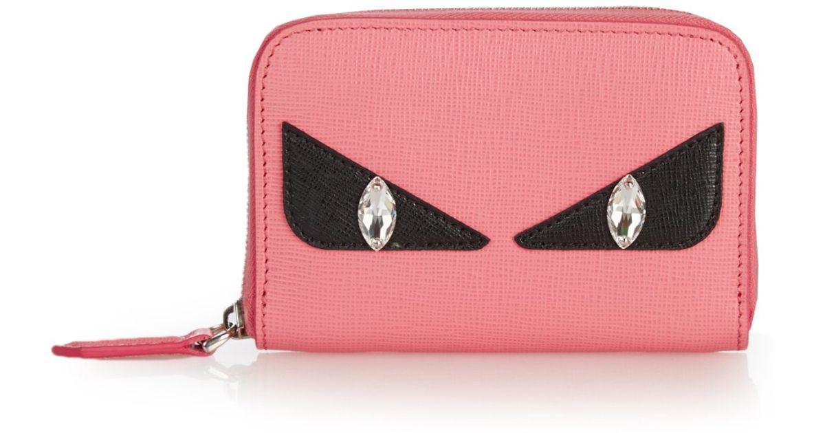 0de045b2e2ee ... denmark denmark lyst fendi bag bugs mini zip around wallet in pink  5b900 dfeda 9ac06 b0c66