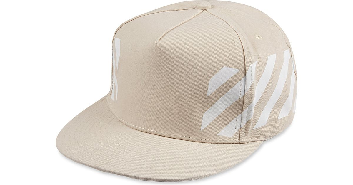 Off-White c o Virgil Abloh Cap Snapback Striped - For Men in White for Men  - Lyst d29d877dc91