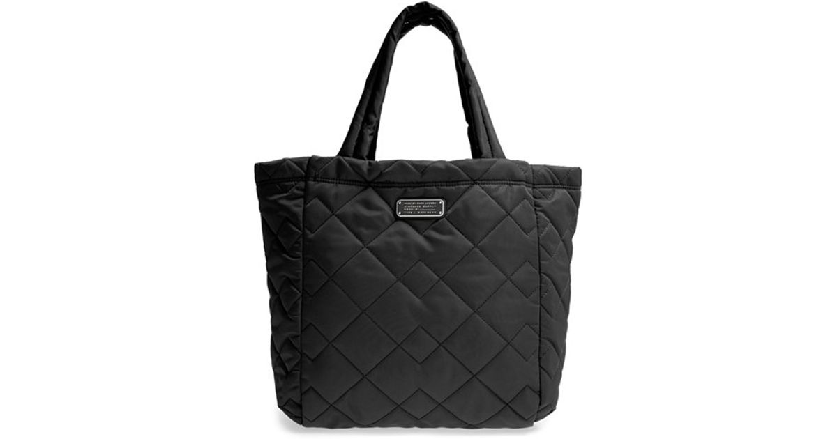 15d6e70da Marc By Marc Jacobs 'crosby' Quilted Nylon Tote in Black - Lyst