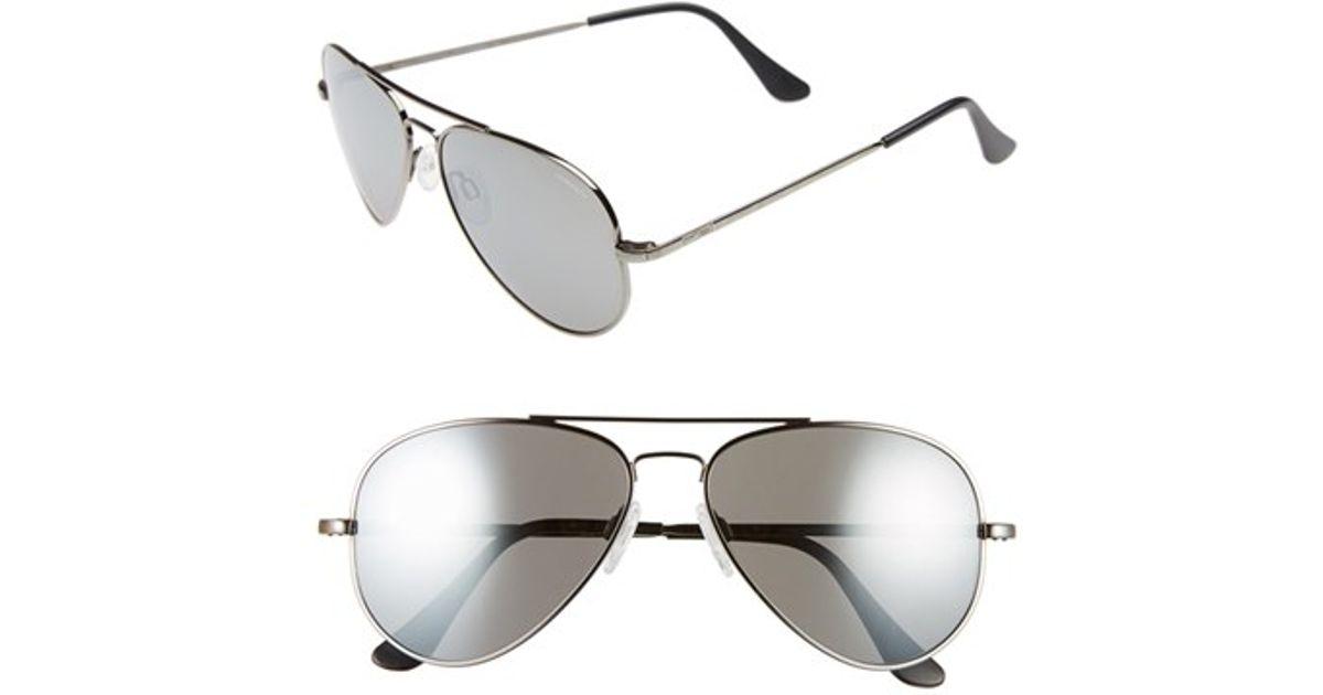 0d087477bb Lyst - Randolph Engineering  concorde  57mm Aviator Sunglasses - Gunmetal   Grey Flash Mirror in Metallic