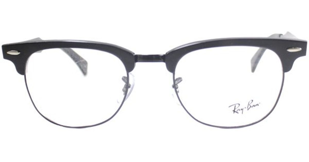 c57477628 ... czech lyst ray ban ray ban rx6295 aluminum clubmaster 2805 brushed  black metal eyeglasses 51mm in ...