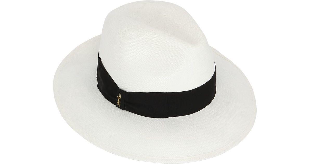 df408b73 Borsalino Extra Fine Panama Hat W/large Brim in White - Lyst