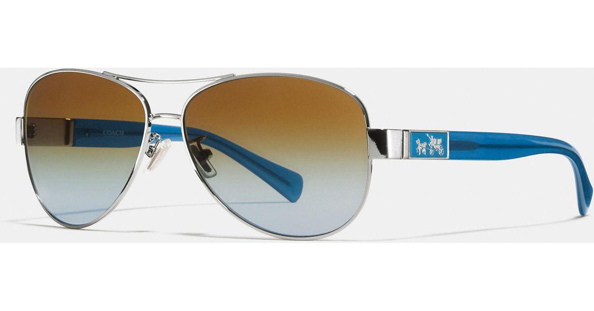 2aa2c2f7c99c3 Lyst - COACH Christina Polarized Sunglasses in Blue
