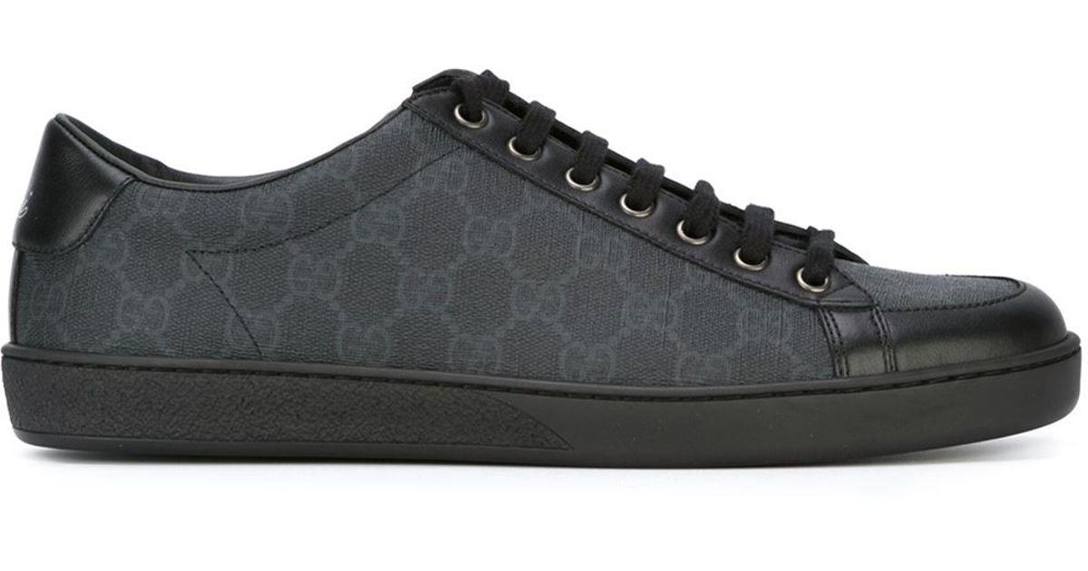 c77d9c92122 Gucci Sneaker Allacciate In Tessuto Gg Supreme in Black for Men - Lyst