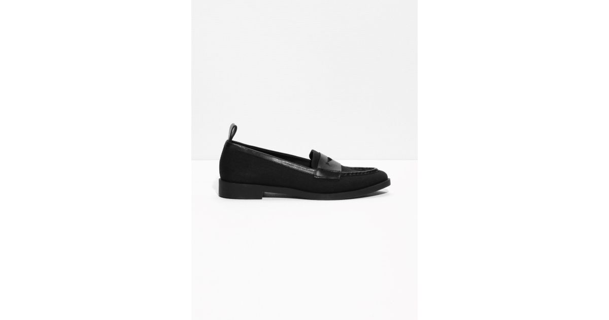 10084722597   Other Stories Leather Loafers in Black - Lyst