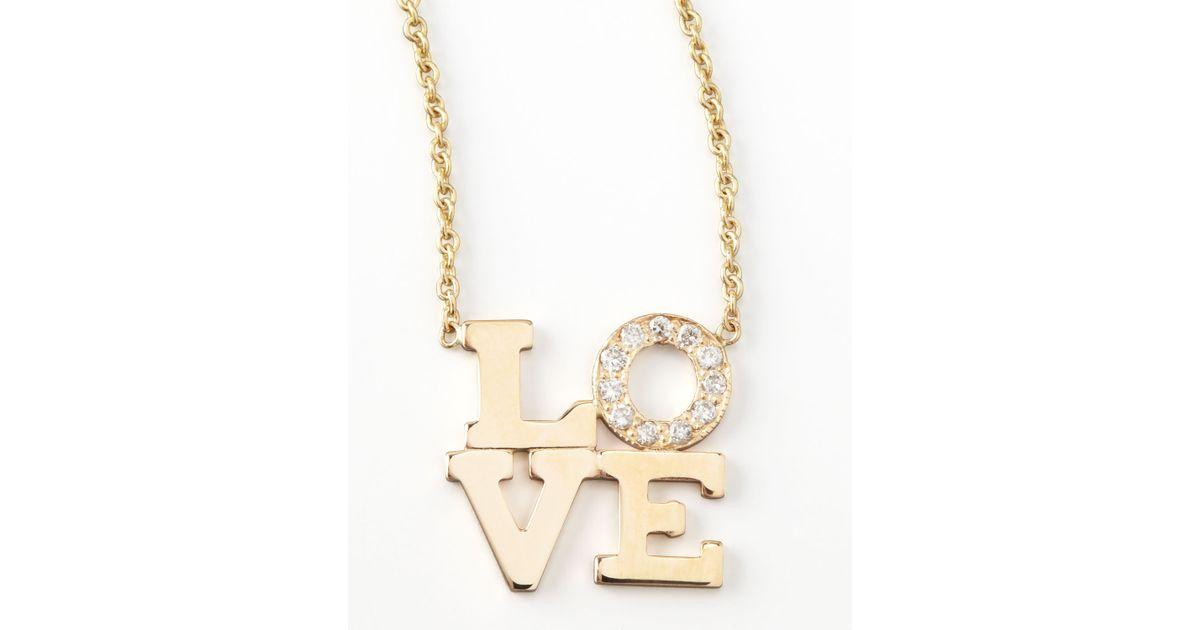 Zoë Chicco Pave Diamond Love Pendant Necklace 7F5OuVvfR