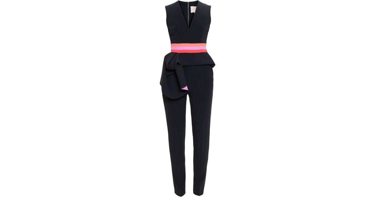 4551391ed84 Roksanda Ruffle Waist Jumpsuit in Black - Lyst