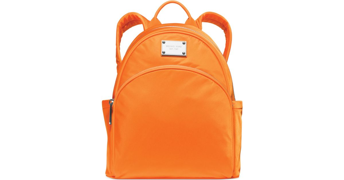 c67829f5ff89 Michael Kors Michael Small Nylon Backpack - A Macy'S Exclusive in Orange -  Lyst