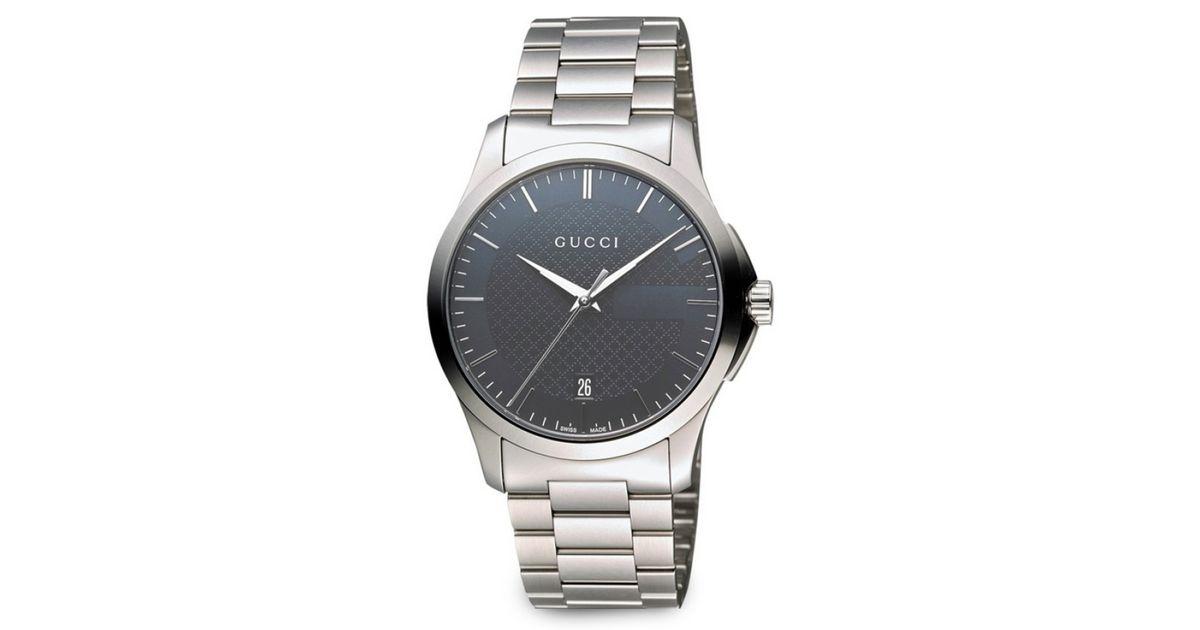 3cdc95c943b Lyst - Gucci Unisex Swiss G-timeless Stainless Steel Bracelet Watch 38mm  Ya126441 for Men