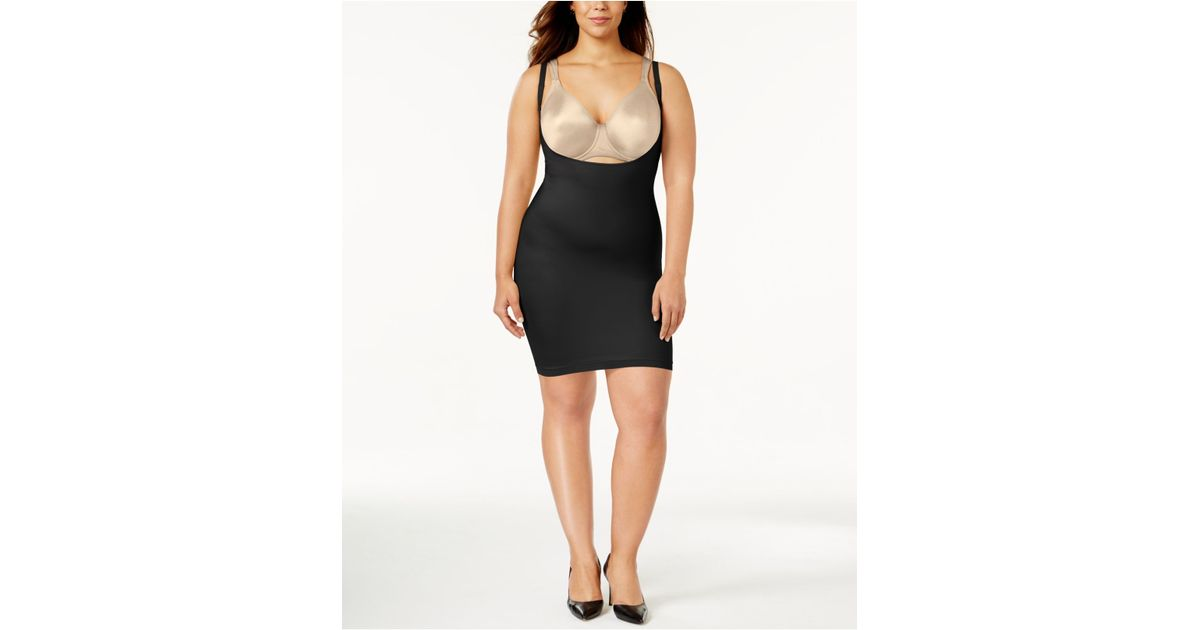 Spanx Plus Size Super Firm Control Open Bust Slip 990p In