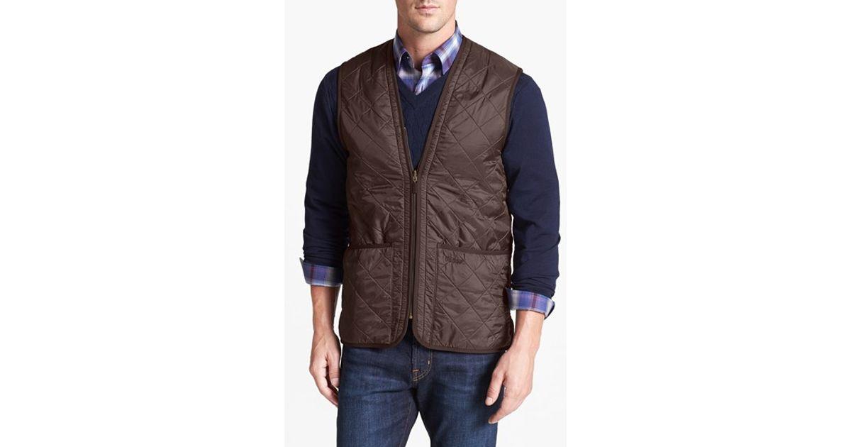 Barbour Waistcoat Zip-in Liner